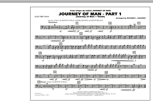 Journey of Man - Part 1 (Journey of Man: Youth) - Electric Bass (Marching Band)