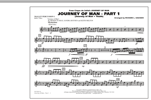 Journey of Man - Part 1 (Journey of Man: Youth) - Mallet Percussion 1 (Marching Band)