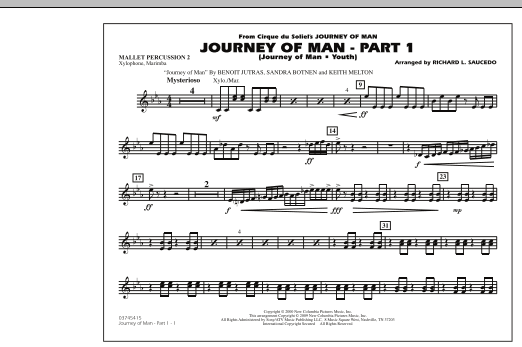 Journey of Man - Part 1 (Journey of Man: Youth) - Mallet Percussion 2 (Marching Band)