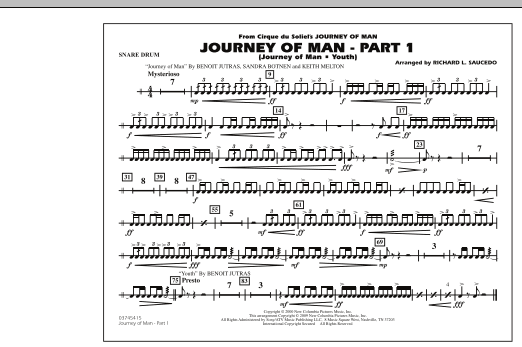 Journey of Man - Part 1 (Journey of Man: Youth) - Snare Drum (Marching Band)
