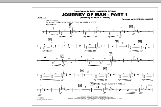 Journey of Man - Part 1 (Journey of Man: Youth) - Cymbals (Marching Band)