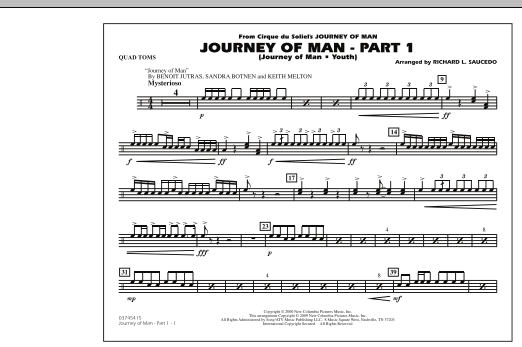Journey of Man - Part 1 (Journey of Man: Youth) - Quad Toms (Marching Band)