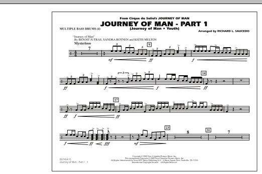Journey of Man - Part 1 (Journey of Man: Youth) - Multiple Bass Drums (Marching Band)