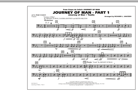 Journey of Man - Part 1 (Journey of Man: Youth) - Aux Percussion (Marching Band)