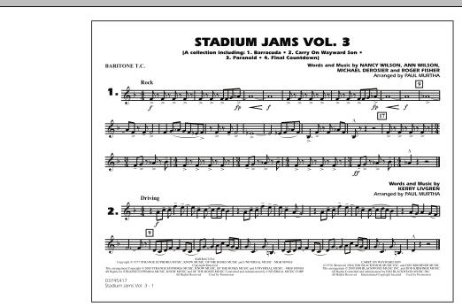 Stadium Jams - Volume 3 - Baritone T.C. (Marching Band)