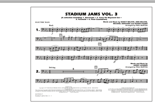 Stadium Jams - Volume 3 - Electric Bass (Marching Band)