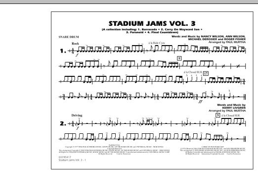 Stadium Jams - Volume 3 - Snare Drum (Marching Band)