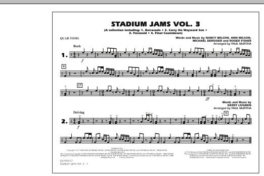 Stadium Jams - Volume 3 - Quad Toms (Marching Band)