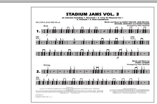 Stadium Jams - Volume 3 - Multiple Bass Drums (Marching Band)