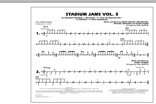 Stadium Jams - Volume 3 - Aux Percussion (Marching Band)