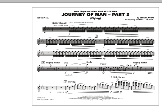 Journey of Man - Part 2 (Flying) - Flute/Piccolo (Marching Band)