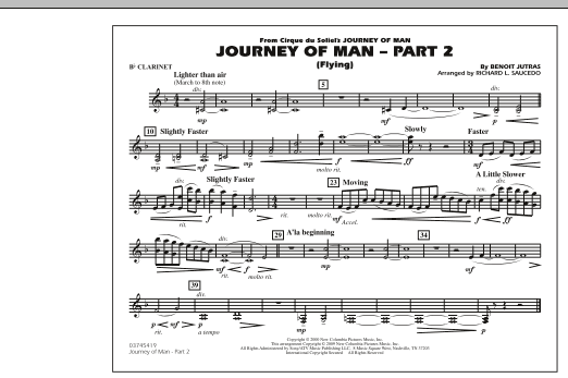 Journey of Man - Part 2 (Flying) - Bb Clarinet (Marching Band)