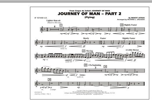 Journey of Man - Part 2 (Flying) - Bb Tenor Sax (Marching Band)