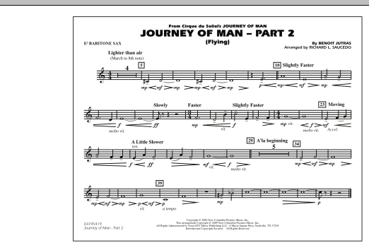 Journey of Man - Part 2 (Flying) - Eb Baritone Sax (Marching Band)