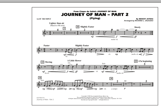 Journey of Man - Part 2 (Flying) - 1st Bb Trumpet (Marching Band)