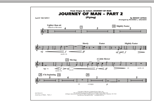 Journey of Man - Part 2 (Flying) - 2nd Bb Trumpet (Marching Band)