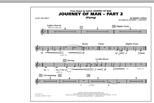 Journey of Man - Part 2 (Flying) - 3rd Bb Trumpet (Marching Band)