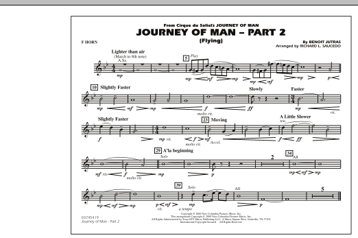 Journey of Man - Part 2 (Flying) - F Horn (Marching Band)