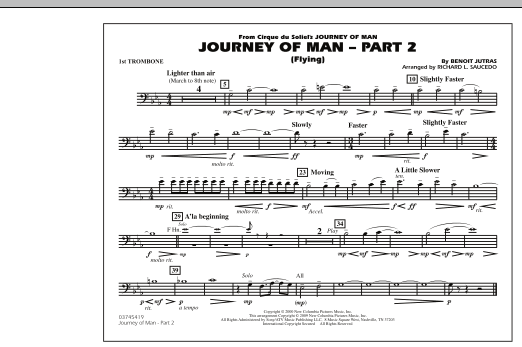 Journey of Man - Part 2 (Flying) - 1st Trombone (Marching Band)