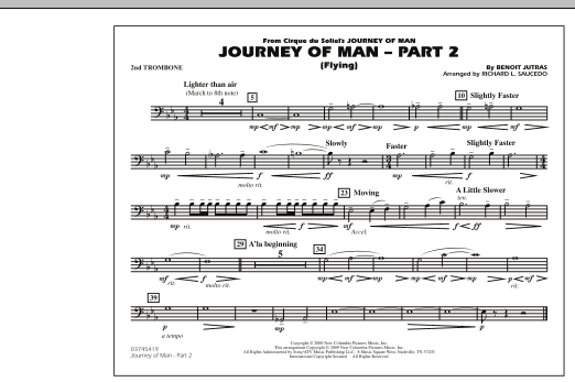 Journey of Man - Part 2 (Flying) - 2nd Trombone (Marching Band)