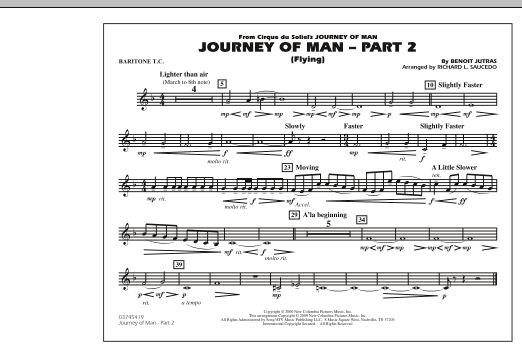 Journey of Man - Part 2 (Flying) - Baritone T.C. (Marching Band)