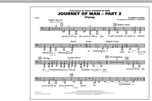 Journey of Man - Part 2 (Flying) - Tuba (Marching Band)