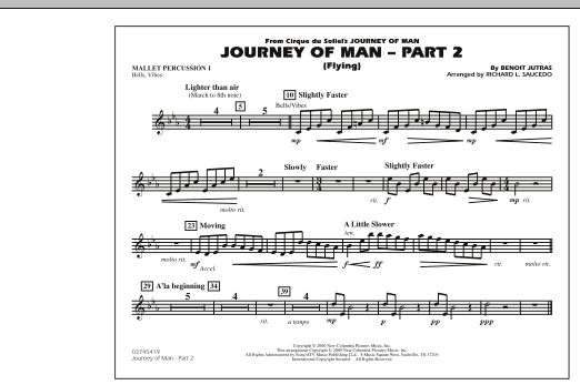 Journey of Man - Part 2 (Flying) - Mallet Percussion 1 (Marching Band)