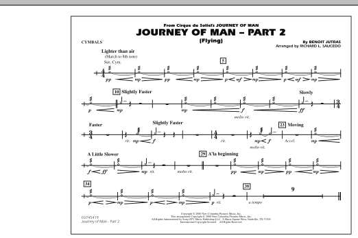 Journey of Man - Part 2 (Flying) - Cymbals (Marching Band)