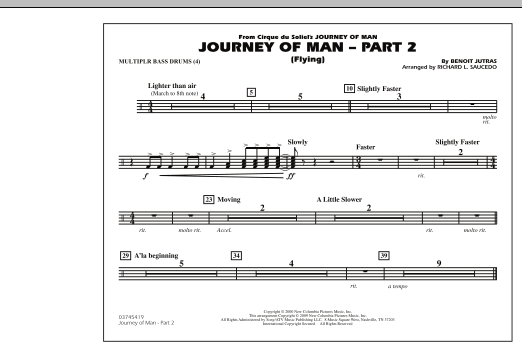 Journey of Man - Part 2 (Flying) - Multiple Bass Drums (Marching Band)