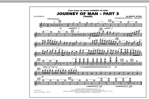 Journey of Man - Part 3 (Youth) - Flute/Piccolo (Marching Band)