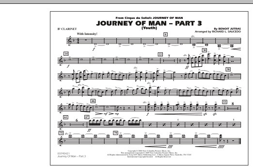 Journey of Man - Part 3 (Youth) - Bb Clarinet (Marching Band)