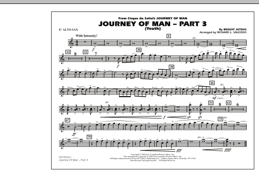 Journey of Man - Part 3 (Youth) - Eb Alto Sax (Marching Band)