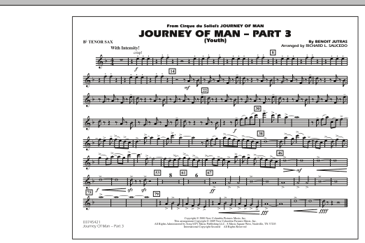 Journey of Man - Part 3 (Youth) - Bb Tenor Sax (Marching Band)