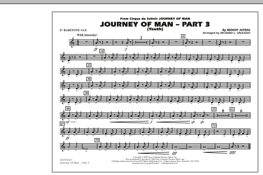 Journey of Man - Part 3 (Youth) - Eb Baritone Sax (Marching Band)