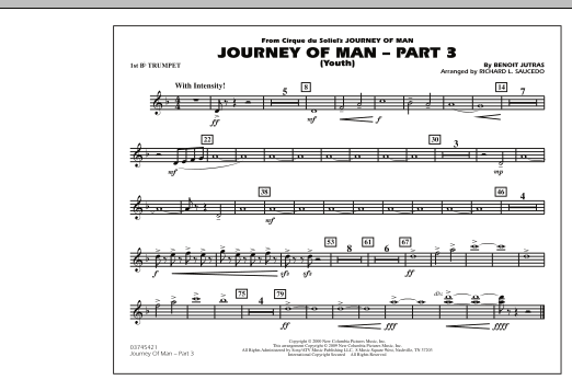 Journey of Man - Part 3 (Youth) - 1st Bb Trumpet (Marching Band)