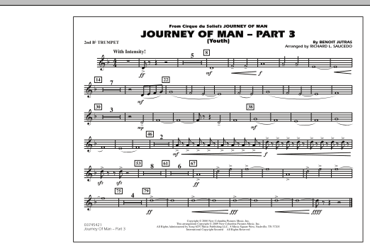 Journey of Man - Part 3 (Youth) - 2nd Bb Trumpet (Marching Band)