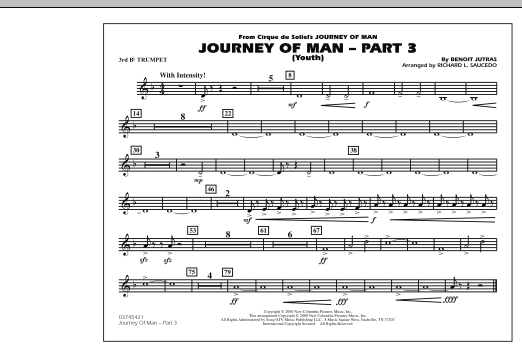 Journey of Man - Part 3 (Youth) - 3rd Bb Trumpet (Marching Band)