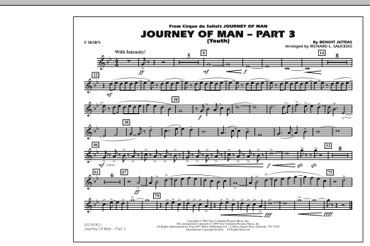 Journey of Man - Part 3 (Youth) - F Horn (Marching Band)