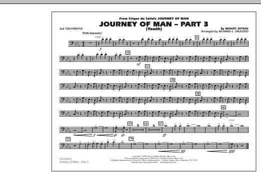 Journey of Man - Part 3 (Youth) - 2nd Trombone (Marching Band)