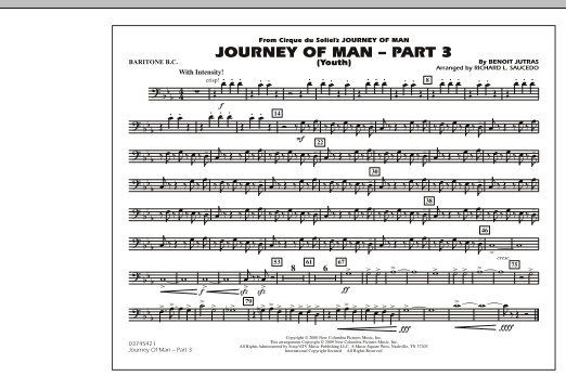 Journey of Man - Part 3 (Youth) - Baritone B.C. (Marching Band)