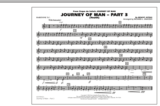 Journey of Man - Part 3 (Youth) - Baritone T.C. (Marching Band)