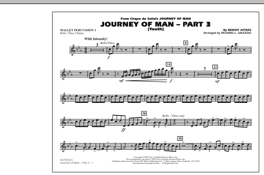 Journey of Man - Part 3 (Youth) - Mallet Percussion 1 (Marching Band)