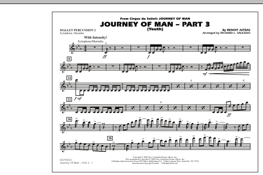 Journey of Man - Part 3 (Youth) - Mallet Percussion 2 (Marching Band)