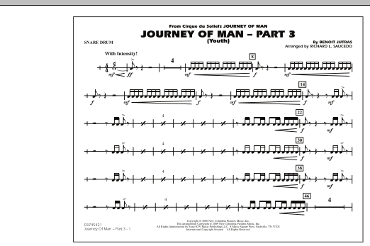 Journey of Man - Part 3 (Youth) - Snare Drum (Marching Band)