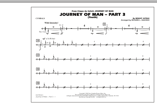 Journey of Man - Part 3 (Youth) - Cymbals (Marching Band)