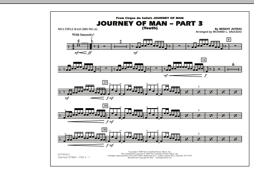 Journey of Man - Part 3 (Youth) - Multiple Bass Drums (Marching Band)