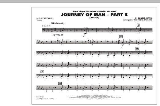 Journey of Man - Part 3 (Youth) - Aux Percussion (Marching Band)