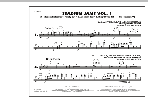 Stadium Jams - Vol. 1 - Flute/Piccolo (Marching Band)
