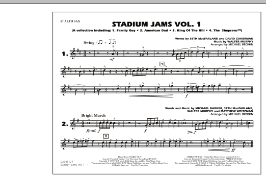 Stadium Jams - Vol. 1 - Eb Alto Sax (Marching Band)