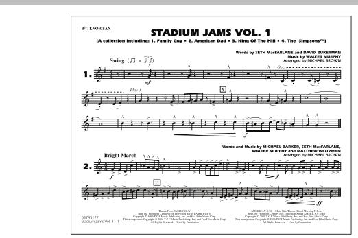 Stadium Jams - Vol. 1 - Bb Tenor Sax (Marching Band)